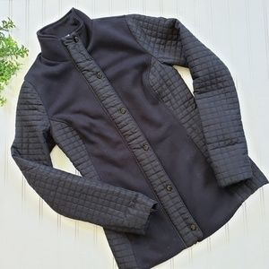 Fabletics Lightweight Black Quilted Jacket size XS